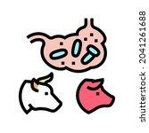 coli bacillus domestic animal...   Shutterstock .eps vector #2041261688
