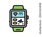 fitness bracelet electronic... | Shutterstock .eps vector #2041261838