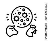 flu domestic animal line icon...   Shutterstock .eps vector #2041261868