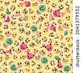 seamless emoji pattern....