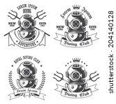 Set Of Diving Labels  Emblems...