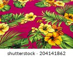 vintage seamless tropical... | Shutterstock . vector #204141862
