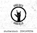 abstract rock hand on grunge...   Shutterstock .eps vector #204149056