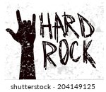abstract rock hand on grunge... | Shutterstock .eps vector #204149125