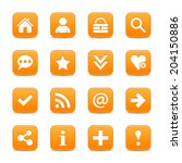16 orange satin icon with basic ...