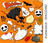 halloween comic speech bubbles... | Shutterstock . vector #204152482