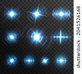 blue light flares  fiery energy ... | Shutterstock .eps vector #2041526168