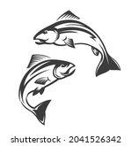 Salmon Fish Vector Icon Of...