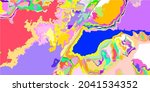 textile art yellow multicolor... | Shutterstock .eps vector #2041534352