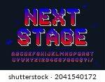 pixel vector alphabet design ... | Shutterstock .eps vector #2041540172