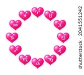 hearts with zodiac signs inside ...   Shutterstock .eps vector #2041551242