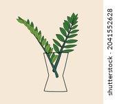 simplicity zanzibar gem plant... | Shutterstock .eps vector #2041552628