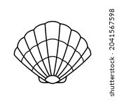 vector clam shell on white...   Shutterstock .eps vector #2041567598