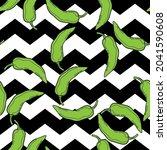 green pepper on geometry...   Shutterstock .eps vector #2041590608