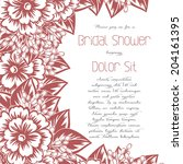 wedding invitation cards with... | Shutterstock . vector #204161395
