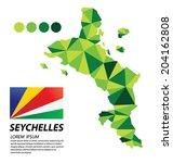 republic of seychelles... | Shutterstock .eps vector #204162808