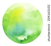 watercolor circle. watercolor...   Shutterstock . vector #204163102