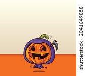 happy halloween. cartoon cute... | Shutterstock .eps vector #2041649858