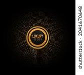 golden circle  dots pattern ...   Shutterstock .eps vector #2041670648