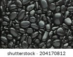 Black Pebble  Background ...