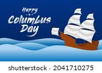 columbus day is observed every... | Shutterstock .eps vector #2041710275