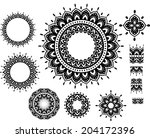round ornament pattern with... | Shutterstock .eps vector #204172396