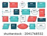 set of various colorful... | Shutterstock .eps vector #2041768532