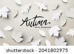 autumn season background design ...   Shutterstock .eps vector #2041802975