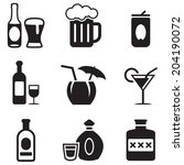 alcohol icons | Shutterstock .eps vector #204190072