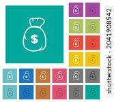 dollar money bag outline multi... | Shutterstock .eps vector #2041908542
