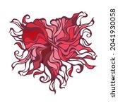 abstract heart vignette pattern.... | Shutterstock .eps vector #2041930058