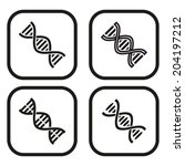 dna icon   four variations