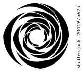 cyclical circle  helix  volute... | Shutterstock .eps vector #2041975625