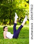 recreational exercise in nature ... | Shutterstock . vector #204197812