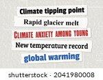 climate change news headlines....   Shutterstock .eps vector #2041980008