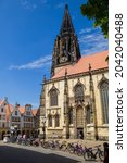 Small photo of Munster, Germany North Rhine-Westphalia August 15, 2021 St Lambert's Church is a Roman Catholic church building.
