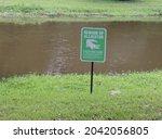 Beware Of Alligators Warning...