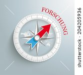 white compass with red german... | Shutterstock .eps vector #204205936