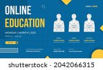 website banner template with... | Shutterstock .eps vector #2042066315