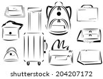 design of bags icon vector set | Shutterstock .eps vector #204207172