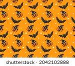 halloween seamless pattern...   Shutterstock .eps vector #2042102888