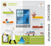 health and medical infographic...   Shutterstock .eps vector #204210508