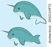 vector design of narwhal in...   Shutterstock .eps vector #2042114972