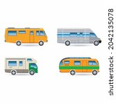 recreational car vehicle icons... | Shutterstock .eps vector #2042135078