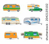 recreational car vehicle icons... | Shutterstock .eps vector #2042135102