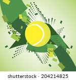 green tennis courts | Shutterstock .eps vector #204214825