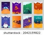 happy halloween design...   Shutterstock .eps vector #2042159822
