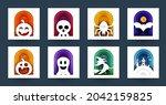 happy halloween design...   Shutterstock .eps vector #2042159825