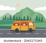 recreational vehicle in the... | Shutterstock .eps vector #2042171345