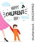 happy children's day poster ...   Shutterstock .eps vector #2042244962
